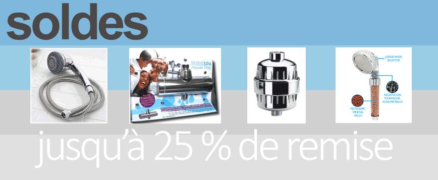 Jusqu'à 25 % de remise sur notre gamme de filtres douche de grande qualité